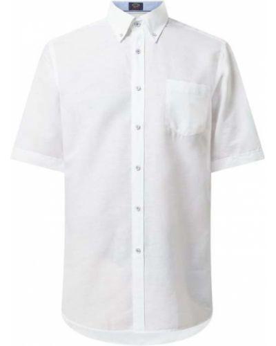 Biała lniana koszula Paul & Shark