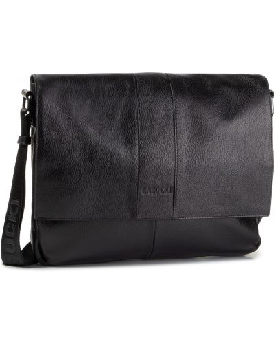 Skórzany torba czarny Lasocki For Men
