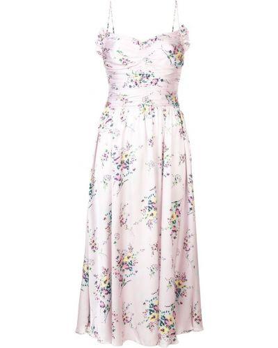 Фиолетовое платье миди на бретелях Jill Stuart