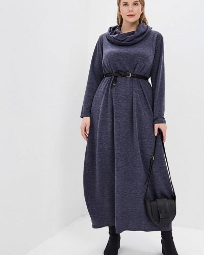 Повседневное платье осеннее синее Darissa Fashion