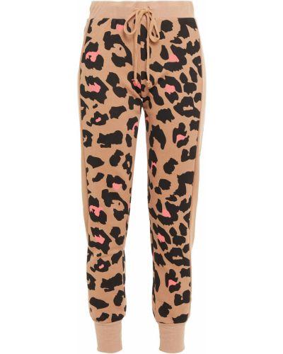Spodnie w paski bawełniane z printem Wildfox