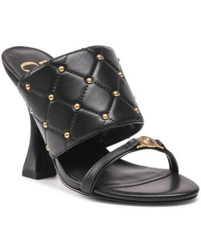 Klapki - czarne Versace Jeans Couture