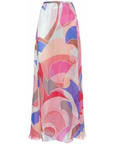 Шифоновая юбка с разрезом с поясом Emilio Pucci