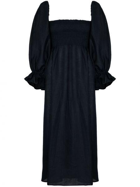Niebieska sukienka midi Sleeper