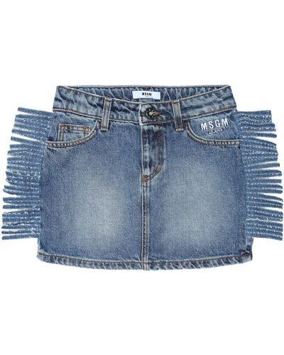 Юбка мини джинсовая классическая Msgm Kids