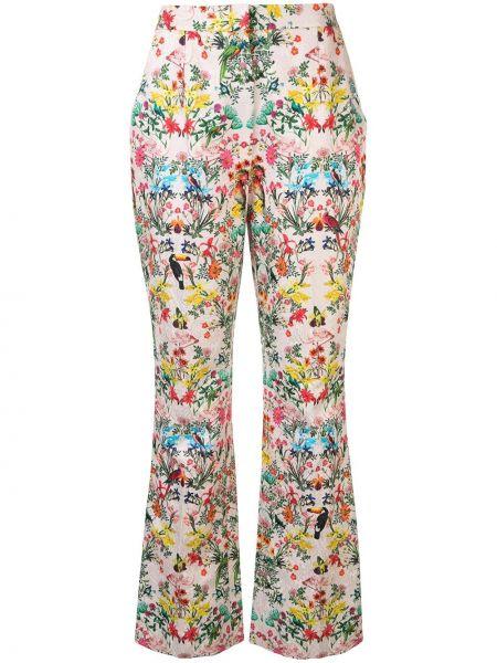 Шелковые брюки - розовые Monique Lhuillier