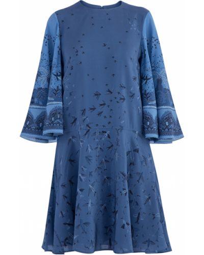 Платье с драпировкой расклешенное Valentino