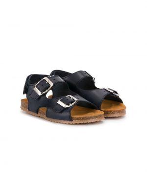 Кожаные темно-синие сандалии с пряжкой Pépé Kids