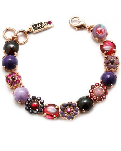 Фиолетовый браслет с гранатом Amaro