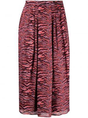 Хлопковая с завышенной талией плиссированная юбка Roseanna