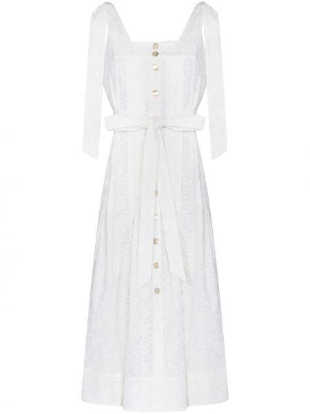 Biała sukienka bawełniana Evi Grintela