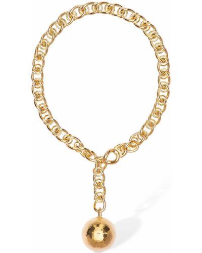 Ожерелье золотое позолоченное Bottega Veneta