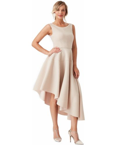Асимметричное розовое вечернее платье без рукавов City Goddess