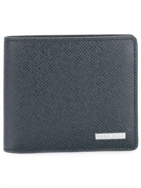 Niebieski portfel z prawdziwej skóry Boss