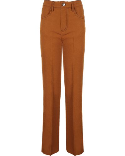 Pomarańczowe spodnie Nanushka