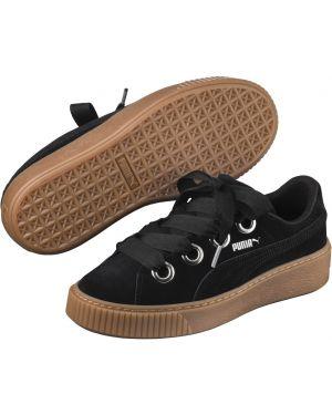 Кроссовки на платформе замшевые черные Puma