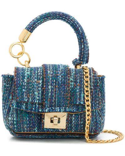 Синяя сумка на цепочке круглая Alila
