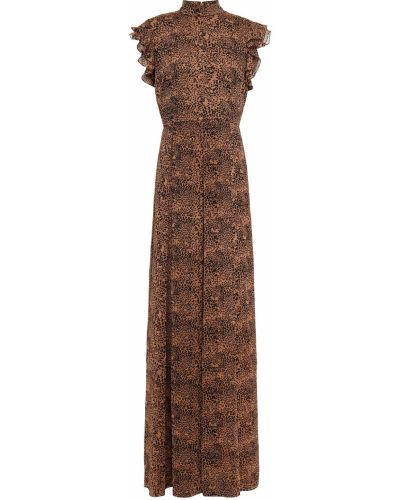 Текстильное платье макси на крючках с принтом Mikael Aghal