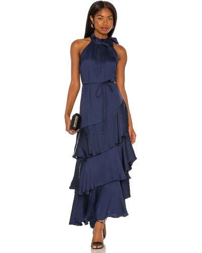 Платье атласное - синее Elliatt