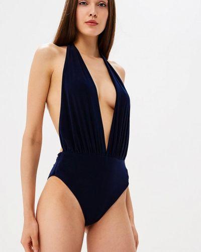 Слитный купальник синий Goddiva