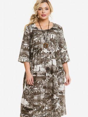 Повседневное платье хаки Venusita