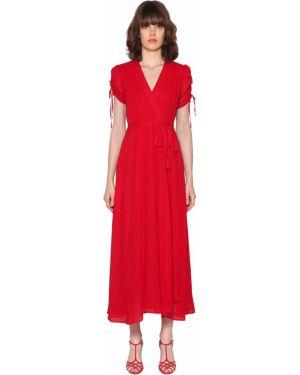 Платье макси на шнуровке с V-образным вырезом Polo Ralph Lauren
