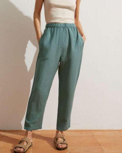 Бирюзовые повседневные брюки Oysho