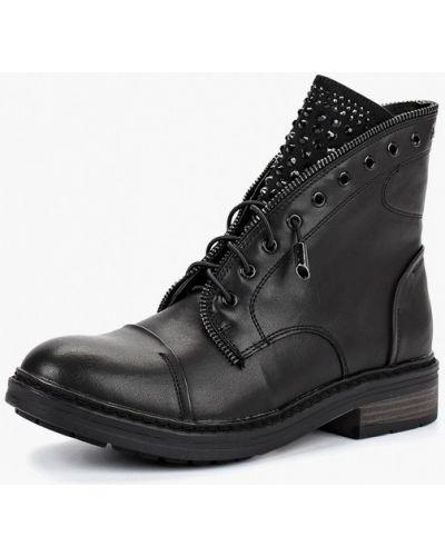 Кожаные ботинки осенние черные Bata