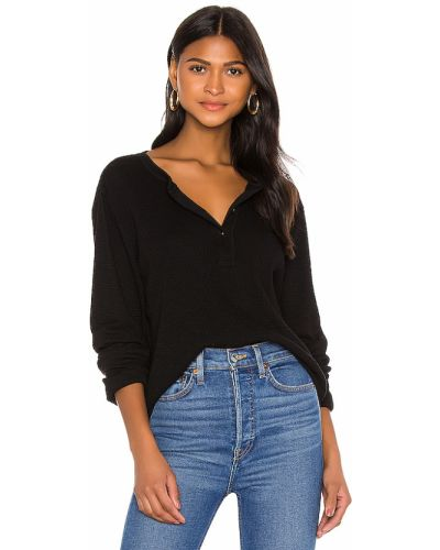 Światło bawełna z rękawami czarny t-shirt Re/done