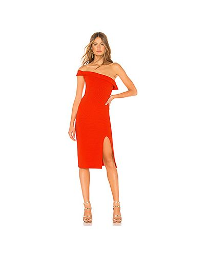 Платье миди с разрезом в рубчик Nbd