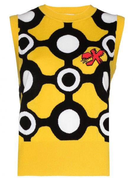 Prążkowana żółta kamizelka bez rękawów Charles Jeffrey Loverboy
