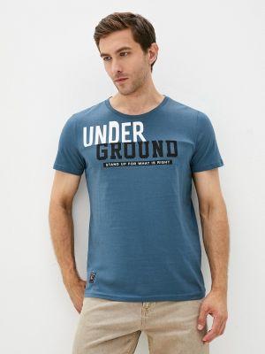 Синяя футболка осенняя Begood