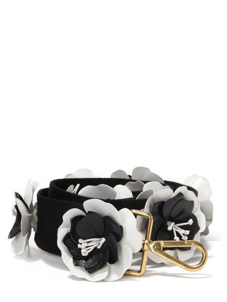 Черная текстильная кожаная сумка Prada