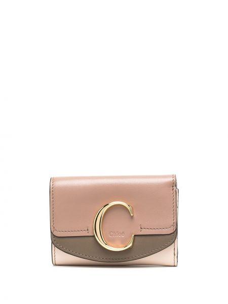 Skórzany portfel skórzany złoto z fałdami Chloe