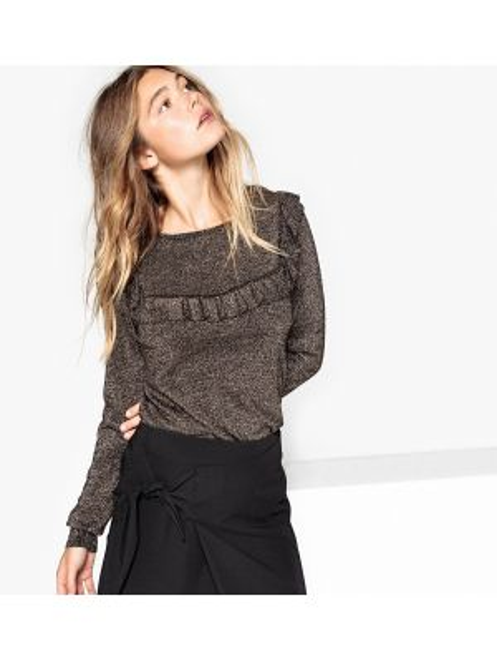 Пуловер из вискозы жаккардовый La Redoute Collections