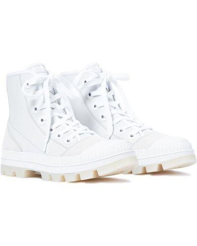 Кожаные белые кроссовки Jimmy Choo