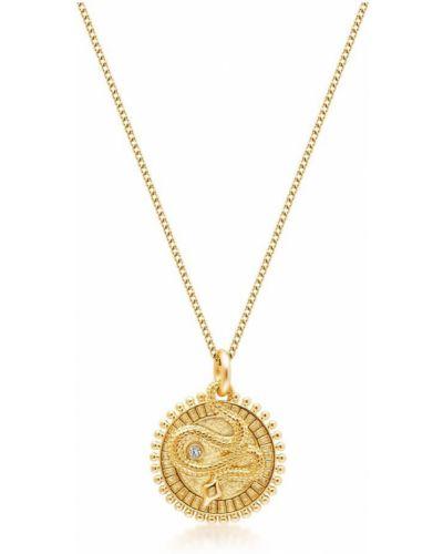 Złoty naszyjnik z diamentem elegancki Nialaya