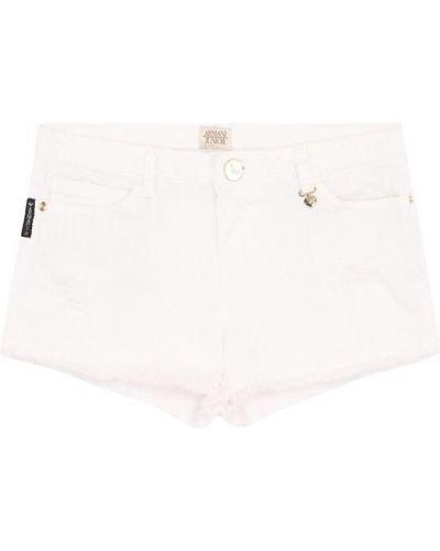 Джинсовые шорты короткие Armani Junior
