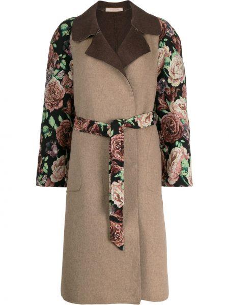 Длинное пальто без воротника с запахом Ermanno Gallamini