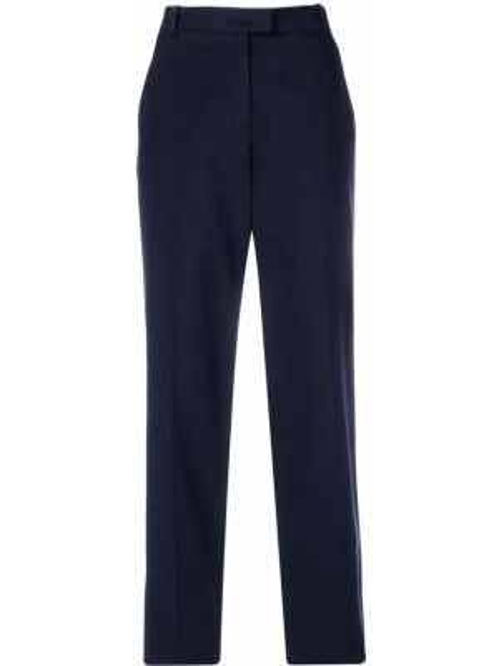 Синие брюки со складками с воротником на пуговицах Vanessa Seward
