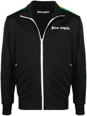 Klasyczna czarna kurtka z printem Palm Angels