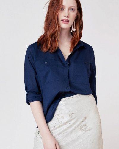 Синяя рубашка с длинным рукавом Violeta By Mango