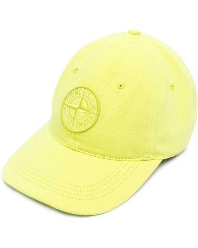 Хлопковая желтая шапка Stone Island