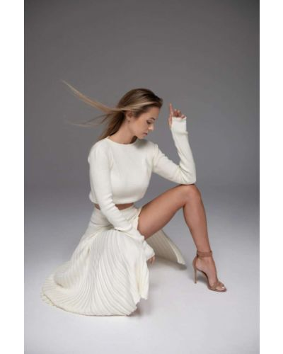 Sweter - biały Aniklova