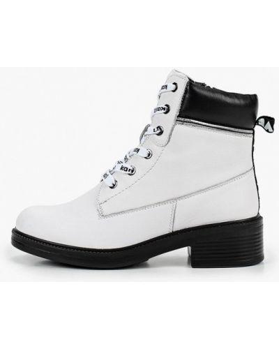 Кожаные ботинки - белые Kari