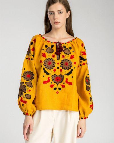 Желтая блузка Etnodim