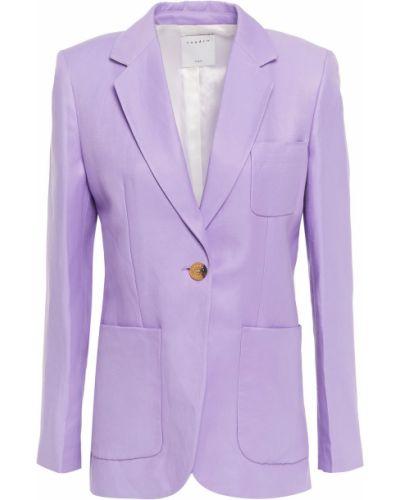 Фиолетовый льняной пиджак с карманами Sandro