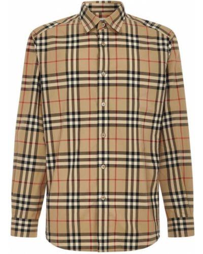 Koszula elegancka bawełniana z długimi rękawami Burberry