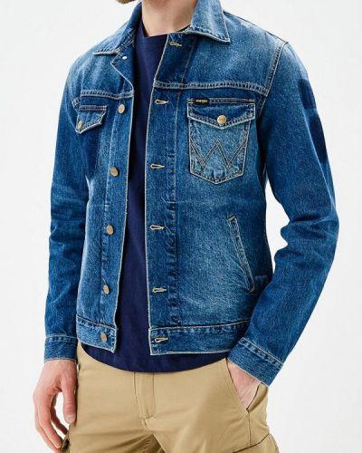 Синяя джинсовая куртка Wrangler