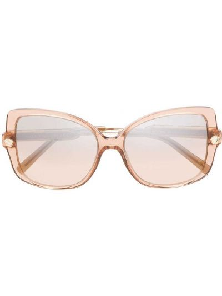 Золотистые коричневые солнцезащитные очки Versace Eyewear